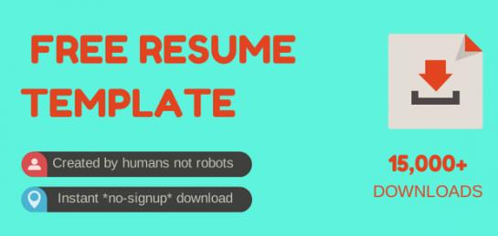 CV template image