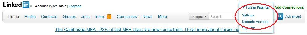 linkedin password