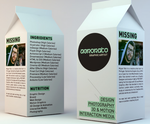 most creative cv milk carton