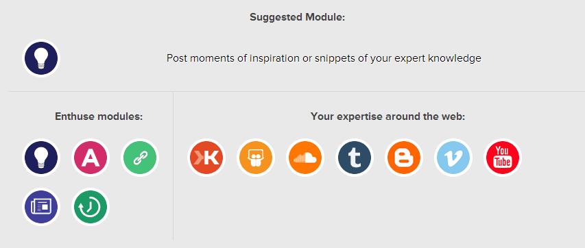 enthuse me modules choice