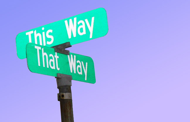 This way or that way - is this how you feel your aspiration is going. photo credit: Lori Greig