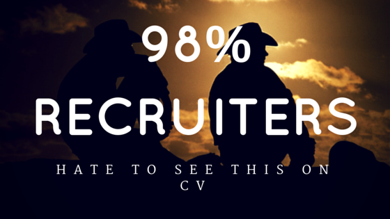 98  of uk recruiters will take you less seriously if you