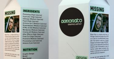 most creative cv milk carton