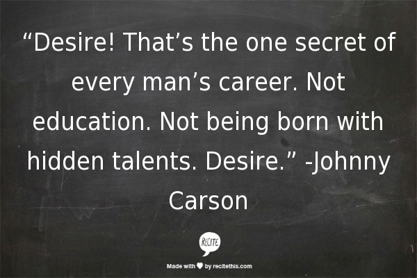 career lessons desire