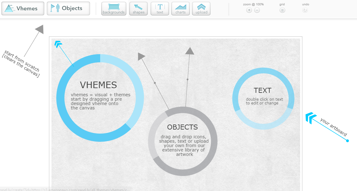ease.ly - create infographics to use in your posts