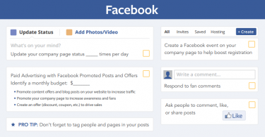 social media checklist for facebook
