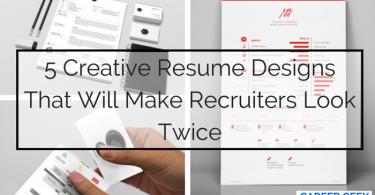 5 Creative Resume Designs