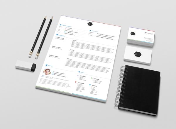 multi colour creative resume design 2