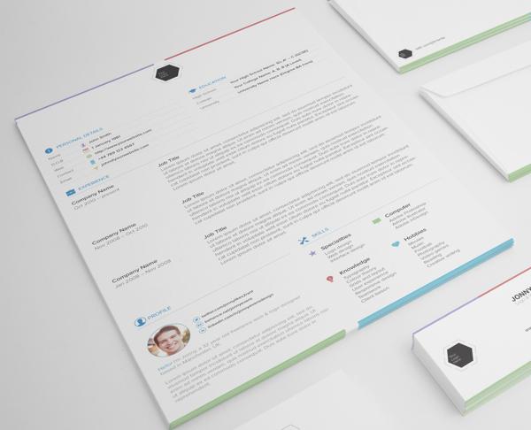 multi colour creative resume design