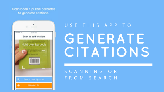 Generate Citations by Scanning Barcodes Using Your Phone