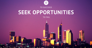 to succeed, seek opportunities to fail