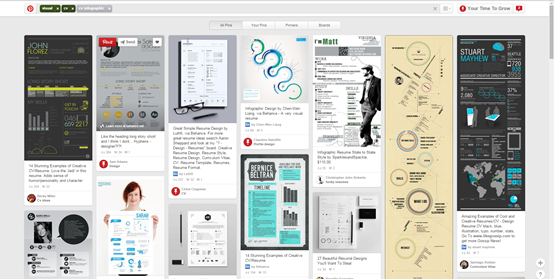 cv infographic examples on pinterest
