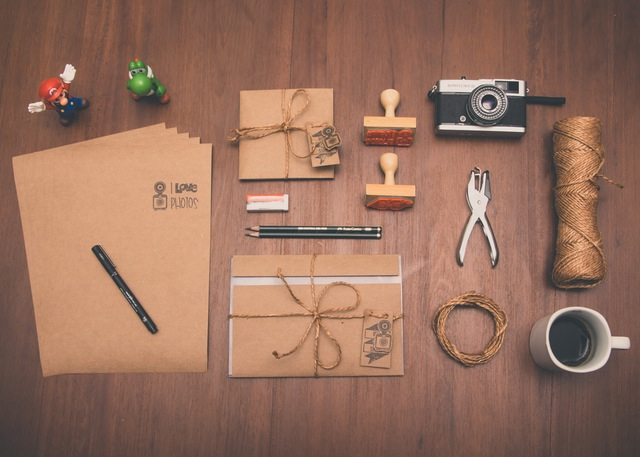 items-organised-on-work-space-table
