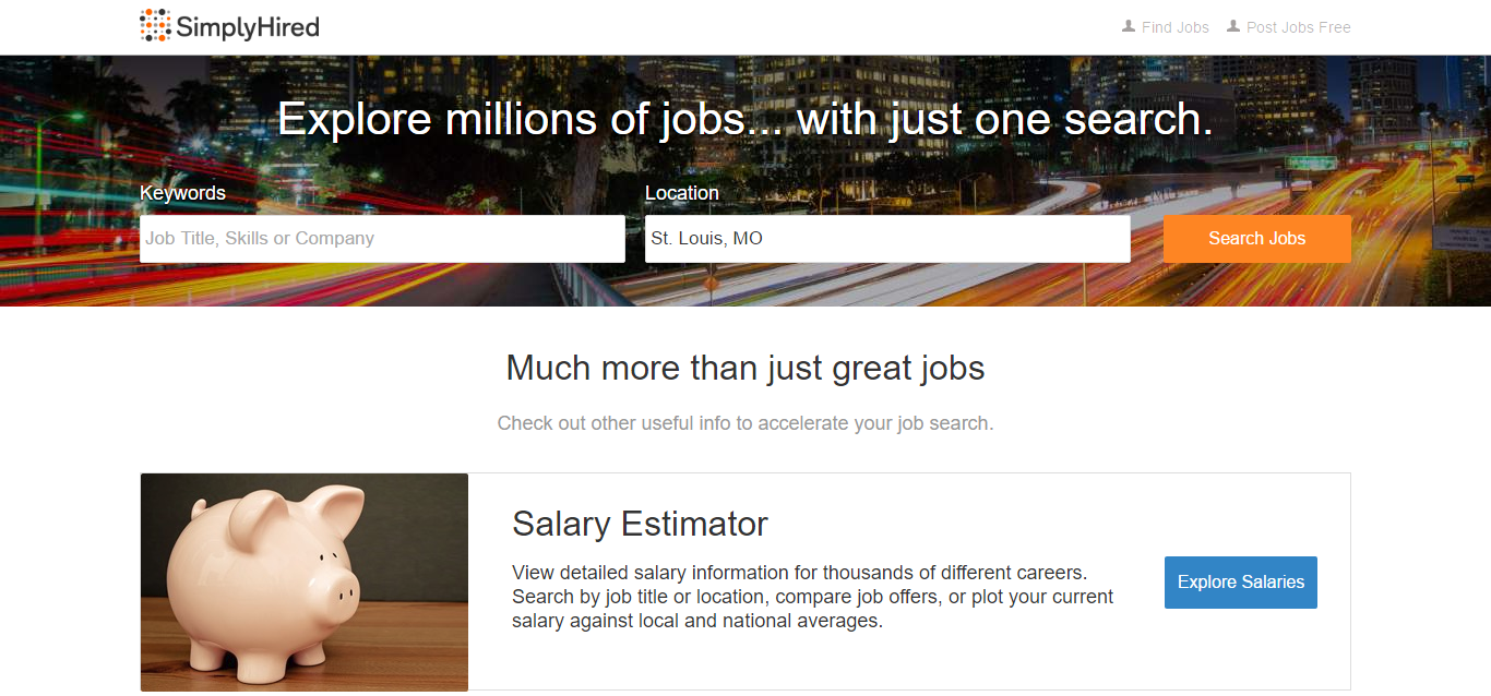simply hired is one of the job hunting tools