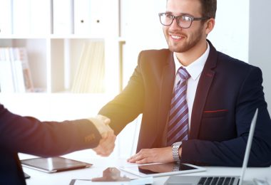 handshake between two men at job interview