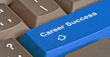 Keyboard with key for career success