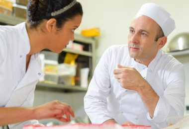 Australian cooking course chef teaching student